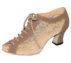 FeatherLite Bici open toe dance shoe offers a beautiful tan with comfortable flower/vine printed mesh. A perfect shoe for practice or show. Anchor Dance Studio is an authorized retailer. www.anchordancestudio.com
