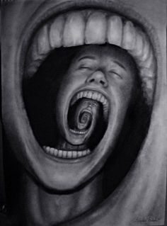 """Mind devour""  by Sebastian Eriksson - 2011  Graphite and charcoal on paper."