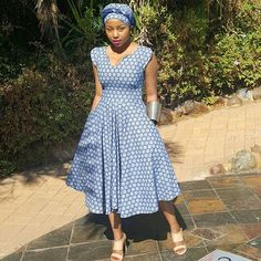 Awesome African Traditional Wedding Dress Mosadi wa Setswana Sparkling in my custom outfit African Print Dresses, African Print Fashion, Africa Fashion, African Fashion Dresses, African Attire, African Wear, African Women, African Dress, Fashion Outfits