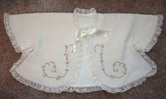 The Old Fashioned Baby Sewing Room: Lorraine's Embroidered Baby Sacque