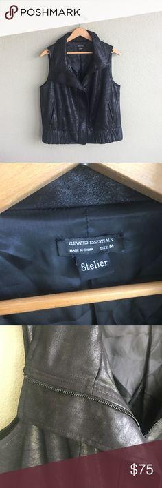 8telier Faux Leather Vest No trades! Excellent condition! 8telier Jackets & Coats Vests