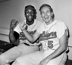 Frank Robinson and Brooks Robinson, Baltimore Orioles, 1966