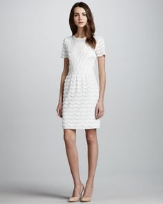 Marc by Marc Jacobs Lace and Jersey Tier Dress