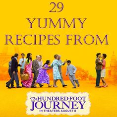 29 Recipes from The Hundred-Foot Journey  THE HUNDRED-FOOT JOURNEY - Based upon the beloved book - PG Helen Mirren (The Queen), and Om Puri (Gandhi).  Produced By Oprah Winfrey and Steven Spielberg.  The Kadam family leaves India for France where they open a restaurant directly across the road from Madame Mallory's Michelin-starred eatery. Showtimes on mpcws.com
