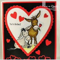 Hand Made Greeting Cards, Making Greeting Cards, Valentine Love Cards, Valentines Diy, Sunflower Cards, Stampinup, Stamping Up Cards, Animal Cards, Heart Cards