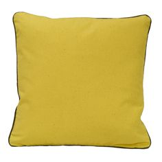 This set of yellow pillows are 100-percent organic and were produced using sustainable materials in a manner that leaves little imprint on our environment. Constructed of cotton, these pillows are machine washable for easy care and repeated use.