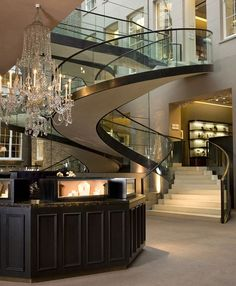Glass Staircase ~Wealth And Luxury ~Grand Mansions, Castles, Dream Homes U0026 Luxury  Homes   Hotels Decoration