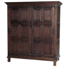 There's more than one iteration of Rustic, and we have all of them! This medieval-looking Country French Armoire features a dozen chamfered and molded panels accentuated by a fluted center stile and hand-forged strap hinges. Circa x x Vintage Armoire, French Armoire, Strap Hinges, Renaissance, Wardrobe Closet, Victorian Gothic, Dark Wood, French Country, Medieval