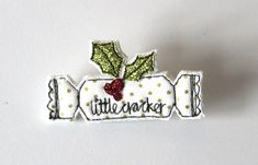 'Little Cracker' Christmas Brooch - Folksy Christmas Fair Ideas, Christmas Favors, Felt Christmas Decorations, Christmas Porch, Felt Christmas Ornaments, Christmas Sewing, Christmas Makes, Christmas Signs, Christmas Inspiration