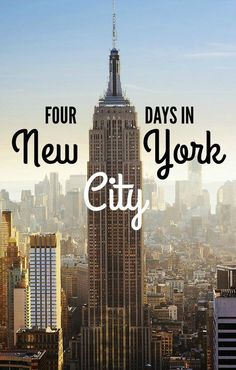 Travelers often have just a short time in a city. This post highlights a New York travel itinerary that is great if you'll be in NYC four days. New York Times Square, Central Park, the Memorial, Wall Street and more are highlighted. Voyage Usa, Voyage New York, Visit New York City, New York City Travel, New York City Trip, New York 2017, New York In March, A New York Minute, New York Vacation