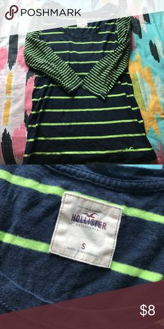 Hollister 3/4 sleeve top Only blemish is the marker on the Hollister insignia Hollister Tops