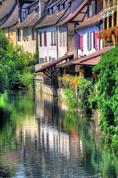 Water Reflections - Colmar, Alsace, France