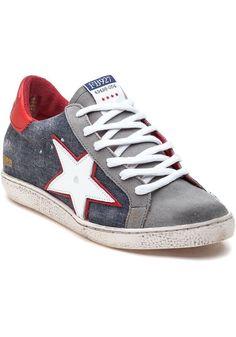 3f311adb312a New Freebird By Steven FB 927 Sneaker Denim Leather Sneakers Shoe 6   eBay  Leather Sneakers