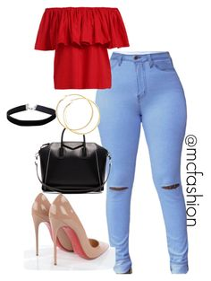 #streetfashion by justina-mcfashionista on Polyvore featuring polyvore Christian Louboutin Givenchy Miss Selfridge fashion style clothing