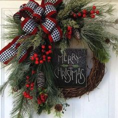 Fabulous DIY Home Front Door Decorating Ideas 046280 - Holiday wreaths christmas,Holiday crafts for kids to make,Holiday cookies christmas, Christmas Wreaths To Make, Christmas Door, Country Christmas, Holiday Wreaths, Christmas Holidays, Christmas Crafts, Christmas Decorations, Christmas Ornaments, Holiday Decor