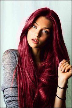 Die besten 25  Haarfarbe rot Ideen auf Pinterest | Haare rot ... | Einfache Frisuren