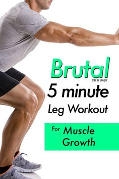 , Grow size and strength in your legs with this beast leg circuit. No equipment needed to build your legs with this killer workout! , Brutal 5 minute Leg Circuit for Muscle Growth Leg Exercises With Weights, Leg Workouts For Men, Killer Leg Workouts, Calf Exercises, Leg Workout At Home, Workout Plan For Men, Gym Workout Tips, No Equipment Workout, Leg Workout Routines