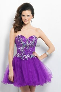 Corset Decorated Prom Dress