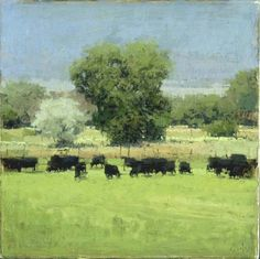 Michael Workman:Summer Afternoon with Black Cows #3
