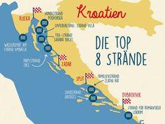 Von Party bis Familie - Strände in Kroatien