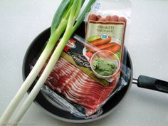 Everything you need for our wasabi cocktail sausages is in this picture. Can you think of an easier appetizer?
