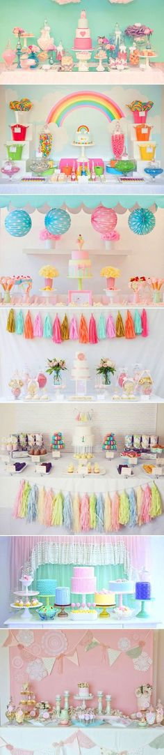 party decor collage - sweet and innocent  - perfect for child's party or baby shower maybe?