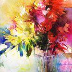 Risultati immagini per elke memmler watercolor Abstract Flowers, Abstract Watercolor, Watercolor Flowers, Watercolor Paintings, Abstract Art, Watercolors, Great Paintings, Beautiful Paintings, Arte Floral