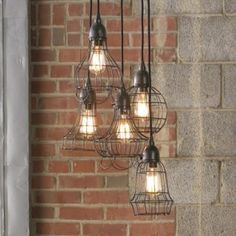 industrial wire pendant lights (need the right space for this)