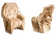Richard Sweeney created this cardboard armchair and sofa in collaboration with Liam Hopkins. It sort of reminds me of a wasp nest. And while I sure it's structurally sound, I imagine this would be strictly indoor furniture. Cardboard doesn't fare too well in the elements.