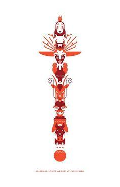 Studio Ghibli Spirits totem