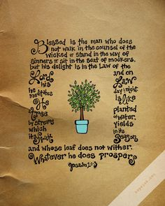 GORGEOUS. Hand Lettered Scripture Illustration from HopeInk.com