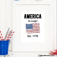 Need a little bit of Americana in you home? Here is a beautiful and simple patriotic inspirational quote printable that is sure to do the trick. Life on Merlin featured on Kenarry.com