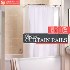 Want the best shower curtail rails for your bathroom?  Get the wide range of them at Global Bathroom UK.  To buy visit - https://goo.gl/m99exn  #showercurtailrails #bestproducts #onlineshopping