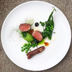 Lamb fillet & belly, peas, mint, sour cream & garlic by Chef Daniel Watkins @chefdanielwatkins Join our community for chefs, food lovers, enthusiasts, ceramic designers, photographers, food designers and all those who work with and around food Direct link in bio.