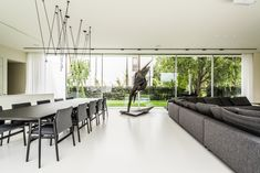 Investors wanted a simple, sunny and relaxing home, somehow reacting to the movement of the sun. Poland, Conference Room, Architecture, Table, Photography, House, Furniture, Home Decor, Arquitetura