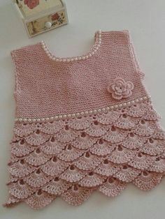 36 Ideas For Baby Dress Birthday Etsy Knitting Baby Girl, Baby Girl Crochet, Crochet Baby Clothes, Crochet For Kids, Baby Knitting Patterns, Baby Patterns, Hand Knitting, Baby Girl Party Dresses, Birthday Gifts For Girls