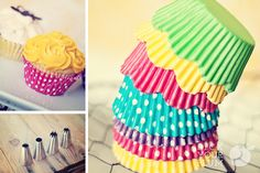 Ohh...cupcake liners for super duper cheap!  Under 3 cents a liner!  $1.99