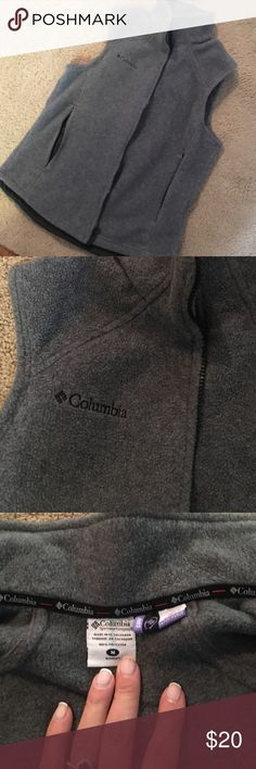 Columbia Fleece Vest Gray vest great for layering and fall weather! Does zipper into other Columbia coats that are ready for that! Columbia Jackets & Coats Vests