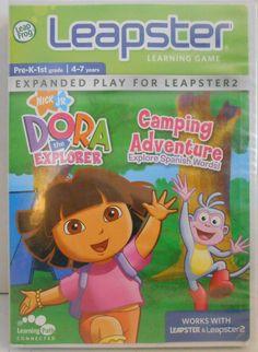 Dora The Explorer Camping Adventure for Leap Frog  Leapster & Leapster2  #LeapFrog