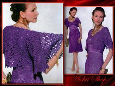 Crochet Patterns Russian eBook Irish Lace Dresses Top Blouses Skirts Jacket Hat Wedding Fashion Magazine Diagram FREE SHIPPING - JMECA Lace Top Dress, Blouse And Skirt, Lace Dresses, Irish Lace, Diy Craft Projects, Crafts, Crochet Fashion, Irish Crochet, Crochet Clothes