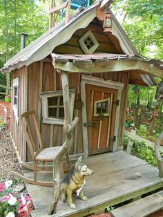 Shed Plans - I want my kids to have this playhouse - Now You Can Build ANY Shed In A Weekend Even If You've Zero Woodworking Experience!