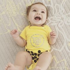 Bubble Tea Baby Outfit - Cute overload Baby Outfit - Order by Sun for Halloween Delivery within the US