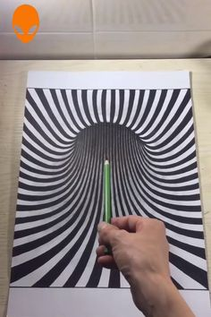 Art Of Paint~ – Zeichnung Optical Illusions Drawings, Illusion Drawings, Art Optical, Illusions Mind, How To Draw Illusions, Optical Illusion Paintings, 3d Pencil Drawings, Doodle Art Drawing, Art Drawings Sketches Simple