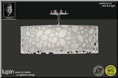Mantra M1364 Lupin Polished Chrome 4 Light Semi Flush Ceiling Light With White Shade