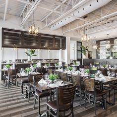 Fourchette Antillaise project reveal - Valérie De L'Étoile interior design Conference Room, Table Settings, Restaurant, Table Decorations, Furniture, Design, Home Decor, Decoration Home, Room Decor