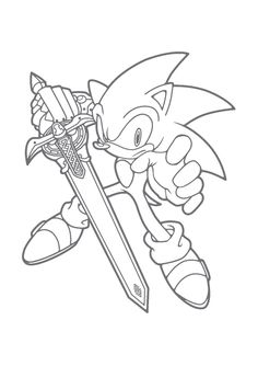 Sonic coloring pages   Just for My Boys   Coloring pages, Coloring ...
