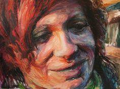 """Saatchi Art Artist Nikos Gyftakis; Painting, """"Theoni"""" #art (Woolf)"""