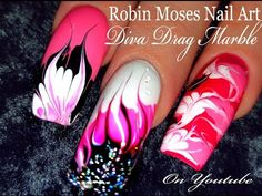 No Water Needed - Pink Diva DIY Drag Marble nail art Tutorial - YouTube