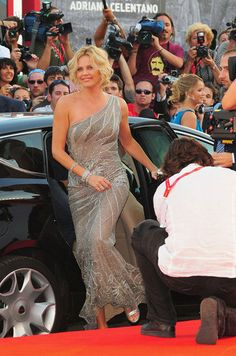 Charlize Theron stepped onto the red carpet looking glamorous in 2008.