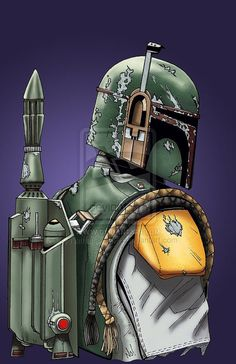 Boba Fett 11x17 Star Wars print by batmanlikesme on Etsy, $20.00